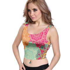 Art Abstract Pattern Crop Top
