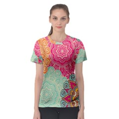 Art Abstract Pattern Women s Sport Mesh Tee