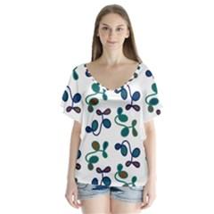 Green Garden Flutter Sleeve Top
