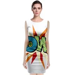 Comic Book Pow! Sans  Classic Sleeveless Midi Dress