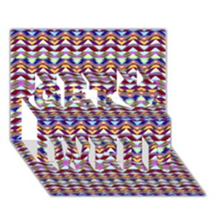 Ethnic Colorful Pattern Get Well 3d Greeting Card (7x5)