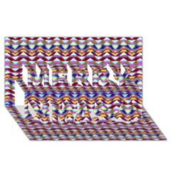 Ethnic Colorful Pattern Merry Xmas 3d Greeting Card (8x4)