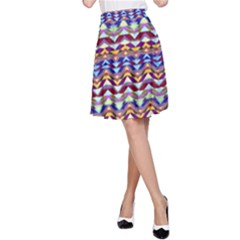 Ethnic Colorful Pattern A Line Skirt