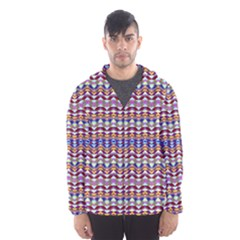 Ethnic Colorful Pattern Hooded Wind Breaker (men)