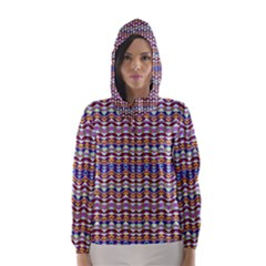 Ethnic Colorful Pattern Hooded Wind Breaker (women)