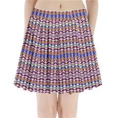 Ethnic Colorful Pattern Pleated Mini Skirt