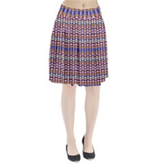 Ethnic Colorful Pattern Pleated Skirt