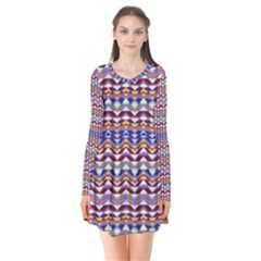 Ethnic Colorful Pattern Flare Dress