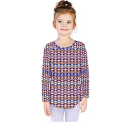 Ethnic Colorful Pattern Kids  Long Sleeve Tee