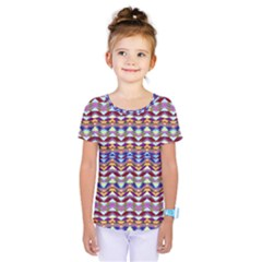 Ethnic Colorful Pattern Kids  One Piece Tee