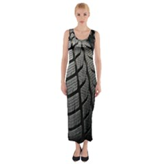 Auto Black And White Car Fitted Maxi Dress