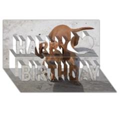 Dachshund Full Happy Birthday 3D Greeting Card (8x4)