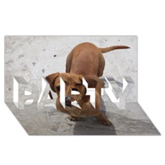 Dachshund Full PARTY 3D Greeting Card (8x4)