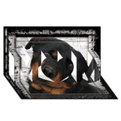Rottweiler Framed MOM 3D Greeting Card (8x4)