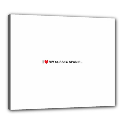 I Love My Sussex Spaniel Canvas 24  x 20