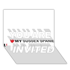 I Love My Sussex Spaniel YOU ARE INVITED 3D Greeting Card (7x5)