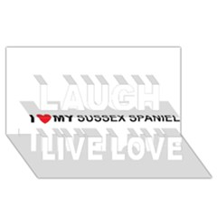 I Love My Sussex Spaniel Laugh Live Love 3D Greeting Card (8x4)