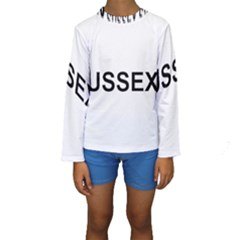 I Love My Sussex Spaniel Kids  Long Sleeve Swimwear