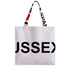 I Love My Sussex Spaniel Zipper Grocery Tote Bag