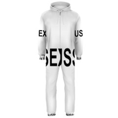 I Love My Sussex Spaniel Hooded Jumpsuit (Men)