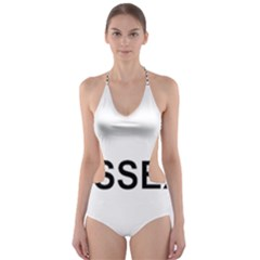 I Love My Sussex Spaniel Cut-Out One Piece Swimsuit