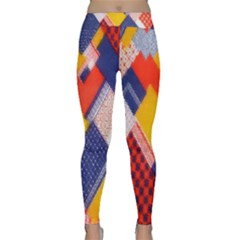 Background Fabric Multicolored Patterns Classic Yoga Leggings
