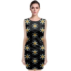 Background For Scrapbooking Or Other With Flower Patterns Classic Sleeveless Midi Dress
