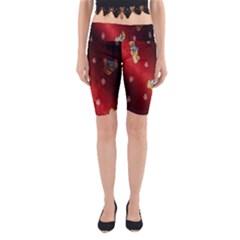 Background Fabric Yoga Cropped Leggings