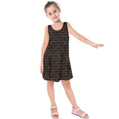BRK1 BK-BR MARBLE (R) Kids  Sleeveless Dress