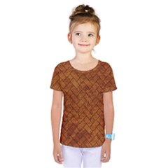 Brick2 Black Marble & Brown Marble Kids  One Piece Tee