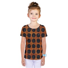 Circles1 Black Marble & Brown Marble (r) Kids  One Piece Tee