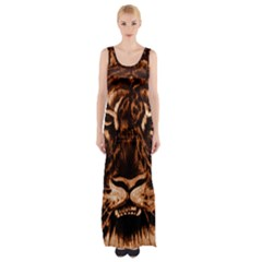 Eye Of The Tiger Maxi Thigh Split Dress