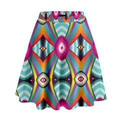 Targets Pattern                                                                                                                  High Waist Skirt