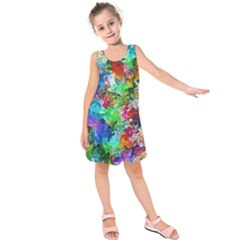 Colorful Strokes                   Kid s Sleeveless Dress