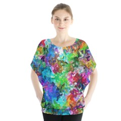 Colorful Strokes                                      Batwing Chiffon Blouse