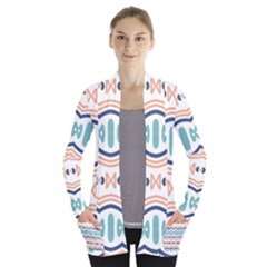 Shapes And Waves                               Women s Open Front Pockets Cardigan