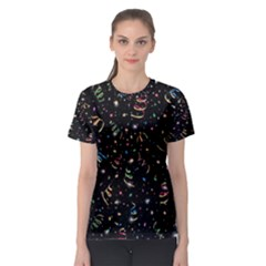 Christmas Decorative Pattern Vector Women s Sport Mesh Tee