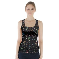 Christmas Decorative Pattern Vector Racer Back Sports Top