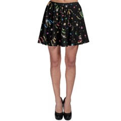 Christmas Decorative Pattern Vector Skater Skirt