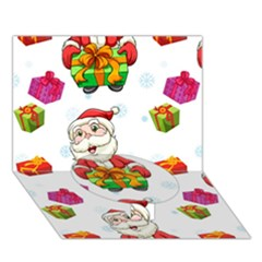 Xmas Patterns  Circle Bottom 3D Greeting Card (7x5)