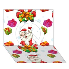 Xmas Patterns  Peace Sign 3d Greeting Card (7x5)
