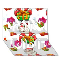 Xmas Patterns  You Did It 3D Greeting Card (7x5)