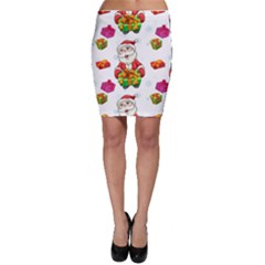 Xmas Patterns  Bodycon Skirt