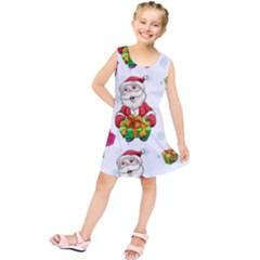 Xmas Patterns  Kids  Tunic Dress