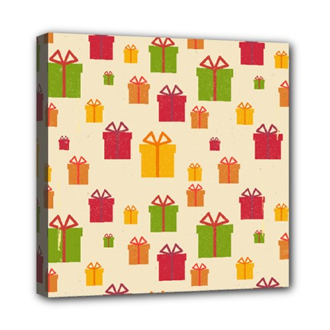 Christmas Gift Box Vector Seamless Pattern Vector Mini Canvas 8  X 8