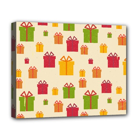 Christmas Gift Box Vector Seamless Pattern Vector Deluxe Canvas 20  X 16