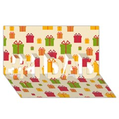 Christmas Gift Box Vector Seamless Pattern Vector #1 Dad 3d Greeting Card (8x4)