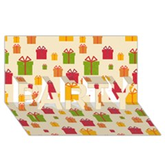 Christmas Gift Box Vector Seamless Pattern Vector Party 3d Greeting Card (8x4)
