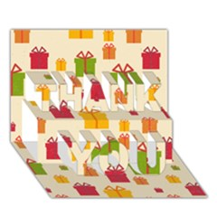 Christmas Gift Box Vector Seamless Pattern Vector Thank You 3d Greeting Card (7x5)