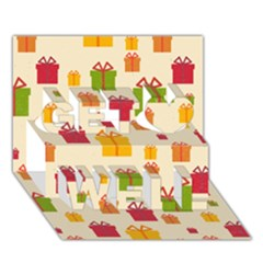 Christmas Gift Box Vector Seamless Pattern Vector Get Well 3D Greeting Card (7x5)